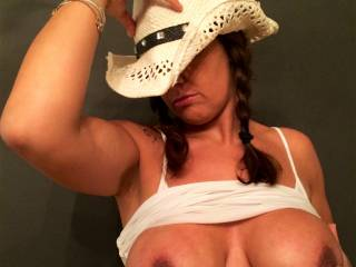 The only way I could like this pic any more would be if you were riding my cock just like this =) You make a PERFECT naughty cowgirl ;).