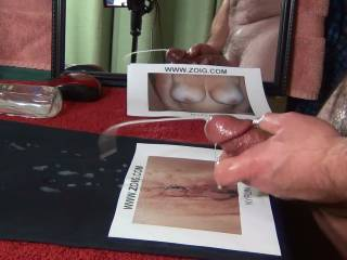 """Packed a """"power punch"""" cum shot for Miss NyFun. Maybe a little too much? Should I have saved some for you?"""