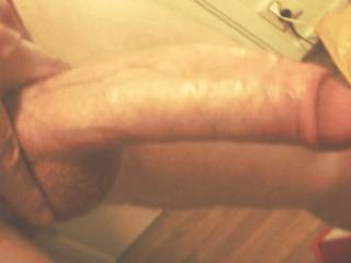 My big white uncut dick