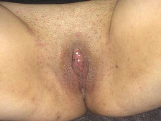 Took a pic of my wifes cock-tongue hungry pussy ready to be fucked or licked?!