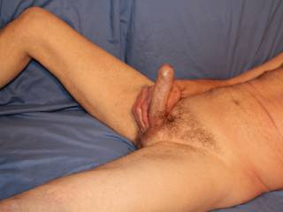 Standing erect foreskin forwards, what would you like to do with 'Him' ?