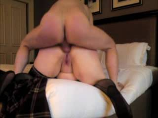 drilling a horny dirty talking bbw slut in the ass as she begs for it