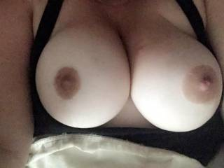 I just want to put these huge tits in my mouth and suck on them