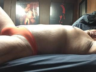Orange bulge speedo