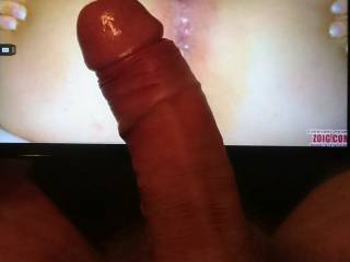 Chebeague posted her first hot picture of such a gorgeous pussy, I really wanted to see how my hard cock would look next to her!