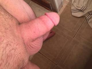 Getting ready for a shower gotta send the wife her morning dick pic