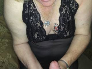 She stroked and sucked