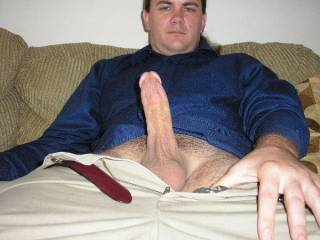 I just came home from a job interview. The lady giving the interview was dressed very sexy. When I stood up to leave, it was obvious that my dick was hard. She noticed, and smiled.