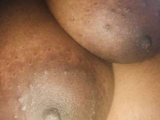 Cum play with my breasts