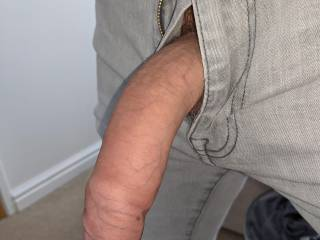 Sometimes I just get so horny, it just bursts out of my jeans!