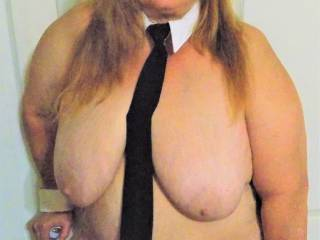 Kelly in her Business Women Costume