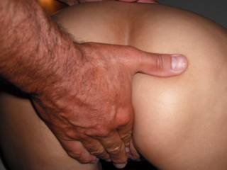 Our friend fingers my pussy more before he fucks me
