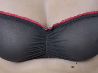 sexy see through bra, see my nips?