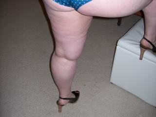 For you heel and ass lovers...Lupo\'s wife!  And yes I fucked her silly for hours before I sent her home to cuckold hubby after I finished taking these pics!