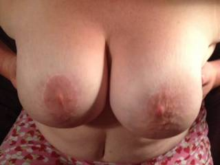 Honey, I would kiss, lick, suck, and fuck your amazing tits...