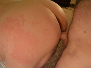 The night after fucking my regular local big tit mature I had this submissive wife in my hotel.  I hadn\'t used her in a few months so she needed the paddle & cock in all her whoreholes.  True married meat.