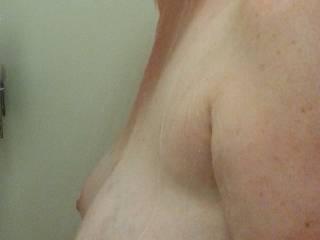 Heavy wet milk filled boobs