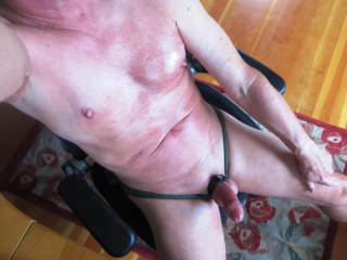 Another body shot with my cock a little bit more erect.