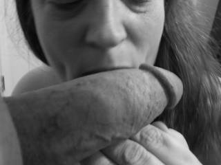 "Photo femme sensuelle noir et blanc: ""Getting All of a Delicious Thick Cock"""
