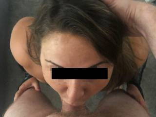 Mmm it makes me so wet when my boyfriend pushes me down into his cock whilst I'm on my knees. I love it when he fucks my mouth until he cums hard all over my face and deep down my throat.