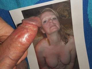Once again, mdj2000 inspired my hard cock to ache so good that my re-cum started to drip from my swollen tip and couldn\'t resist my horny urge to stroke my stiff dick over her  >:)