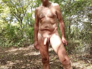 What a great feeling to be naked outdoors.