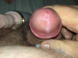 """Nice cumshot after I fucked myself with an 8"""" dildo;)"""
