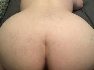 Mrs. Truck 89 showing her hot wet pussy,  ass and new Vixen necklace  from our morning session. We would love to play with others. We have come to the conclusion that we are a Stag and Vixen couple. Seeking new playmates and hot stories about her.