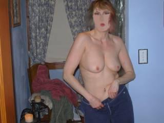 Pre-bath strip tease :-) Enjoy?