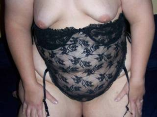 wife starting to wiggle out of some sexy lingerie
