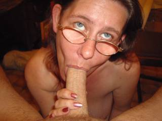 mmmm yes...so like you to suck my cock and milk my balls dry