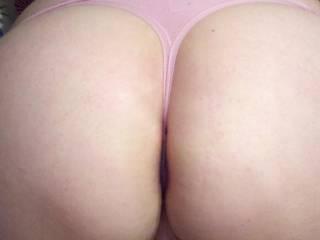 Wife bent over teasing me