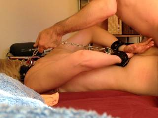 A quick jerk to that chair should make her squirm & cum hard !! Wonderful little cum slut !! You are a luckily man !!