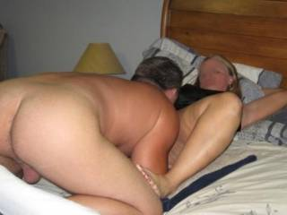 wow i love this sexy pic.... love the way u eating that hot pussy and that way ur ass is sticking out high like that with ur nice big balls hanging out like that... hot hot hot...