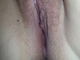 See my cum inside my pussy. Was really horny!!
