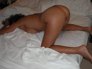 Playing with my pussy, waiting for him to fuck me with his lovely smooth thick cock, when we were recently on holiday.