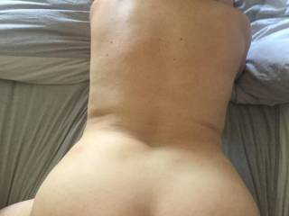 Me bend over again having a nice deep balls fuck!!!! anyone want to cum over my back?