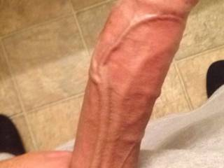 Big veiny uncut cock