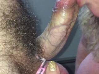 Just a quick suck job to get my cock stiff so I can fuck her tight pussy! She has the tightest pussy I ever fucked!