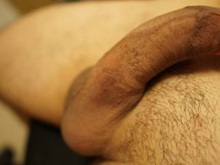 Soft cock and balls.