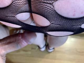 My cock getting ready for some her ass
