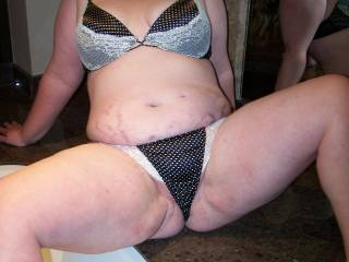 spreading my legs teasing hubby