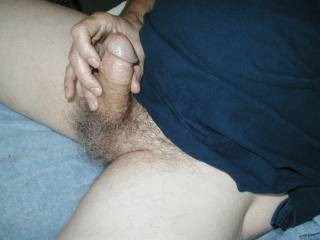 love that fat cock perfect size  and thiose tight balls mean your ready to unload  Seeing it cum in the next pic  was awesome  We need to play togteher you I and my wife too