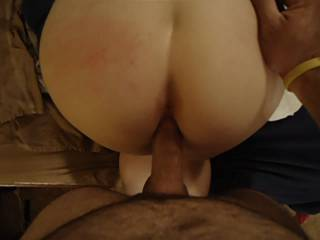 Hubby fucking me good and filling me with his hot cum! Anyone care for seconds?