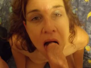 Lucky lucky guy. Would love to have my cock sucked by such a sexy hot gorgeous woman. My cock is getting harder just thinking about it and imagining that beautiful face.