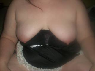 Showing off some lingerie a friend got for me that she wanted me to wear for her and my husband. Hope you enjoy looking at them, although probably has much as we enjoyed taking them.