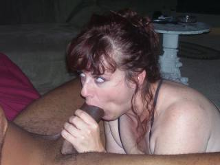 Huge cock, willing mouth, what more could we ask for?