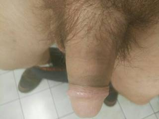 taking a pic of my cock hahaha