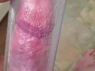 Stroking my pump penis