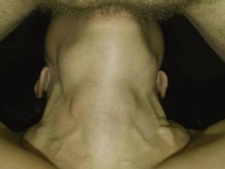 This is What My Throat Looks Like - When it is Full of My Hubby Thick Cock. At nearly 7 Inches in Circumference...Do You Think You Can Fit Him In..?